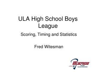 ULA High School Boys League