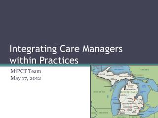 Integrating Care Managers within Practices