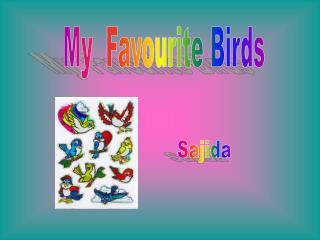 My  Favourite Birds