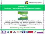 Presented by Nicky Muscillo B Pharm