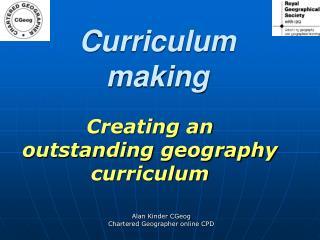 Curriculum making
