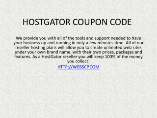 hostgator coupon, godaddy promo code 2013