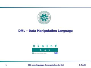 DML   Data Manipulation Language