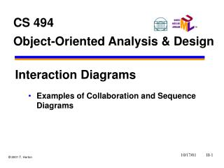 CS 494 Object-Oriented Analysis  Design