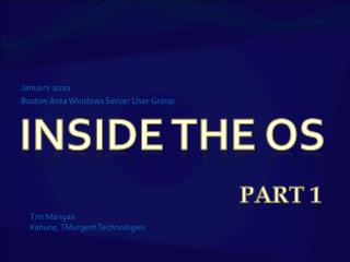 Inside the OS