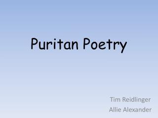 Puritan Poetry