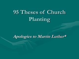 95 Theses of Church Planting