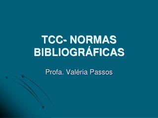 TCC- NORMAS BIBLIOGR FICAS