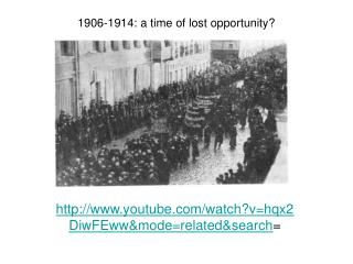 1906-1914: a time of lost opportunity
