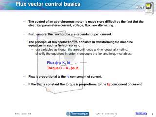 Flux vector control basics