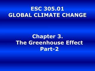 ESC 305.01  GLOBAL CLIMATE CHANGE