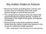 Dry matter Intake on Pasture