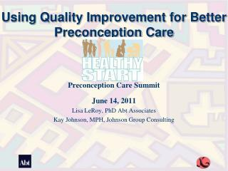 Using Quality Improvement for Better Preconception Care