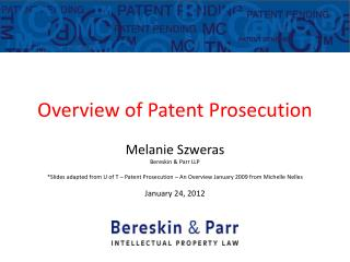 Overview of Patent Prosecution