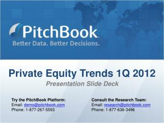 Private Equity Trends 1Q 2012 Presentation Slide Deck