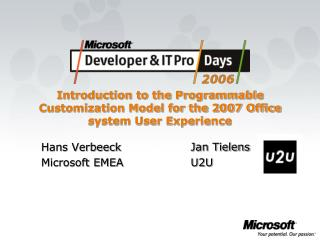 Introduction to the Programmable Customization Model for the 2007 Office system User Experience