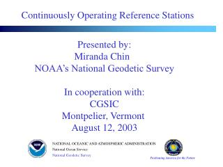 Continuously Operating Reference Stations