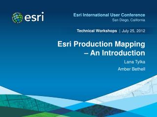 Esri Production Mapping   An Introduction