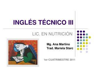 INGL S T CNICO III