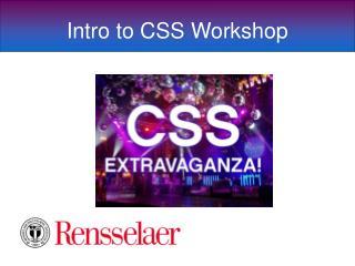 Intro to CSS Workshop