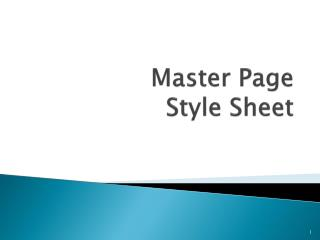 Master Page Style Sheet