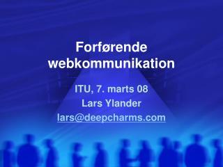 Forf rende webkommunikation