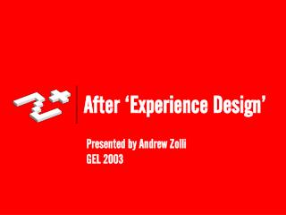 After  Experience Design