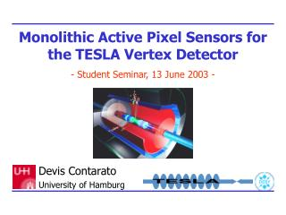 Monolithic Active Pixel Sensors for the TESLA Vertex Detector