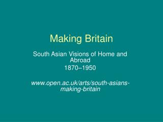 Making Britain