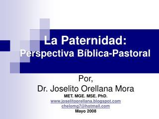La Paternidad: Perspectiva B blica-Pastoral