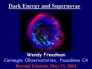 Dark Energy and Supernovae