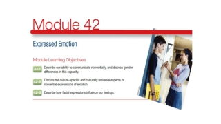 Experienced Emotion  Module 42