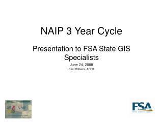 NAIP 3 Year Cycle