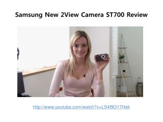 Samsung New 2View Camera ST700 Review