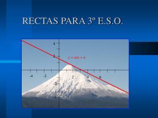 RECTAS PARA 3  E.S.O.