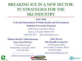 BREAKING ICE IN A NEW SECTOR: P2 STRATEGIES FOR THE  SKI INDUSTRY