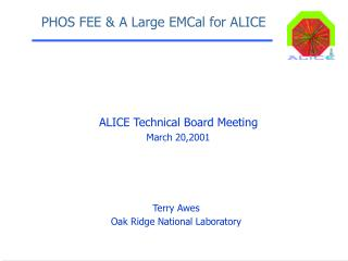 PHOS FEE  A Large EMCal for ALICE