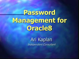 Password Management for Oracle8
