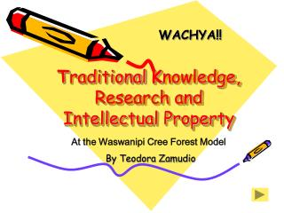 Traditional Knowledge, Research and Intellectual Property