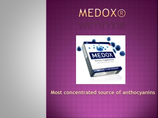 Medox?? -The world's most concentrated source of anthocyanins