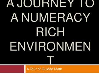 A Journey TO A Numeracy Rich Environment