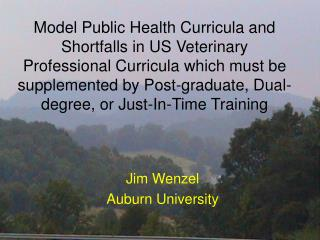 American College of Veterinary Preventive Medicine ACVPM Model veterinary Curriculum