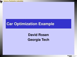 Car Optimization Example