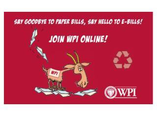 WPI e-Billing  e-Payment