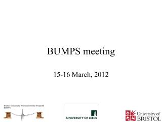 BUMPS meeting