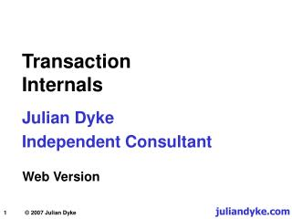 Transaction Internals