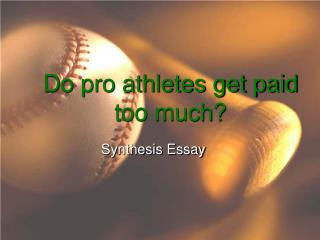 Do pro athletes get paid too much