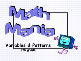 Variables  Patterns 7th grade