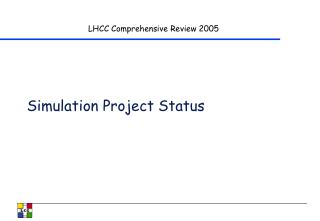 Simulation Project Status