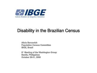 Disability in the Brazilian Census